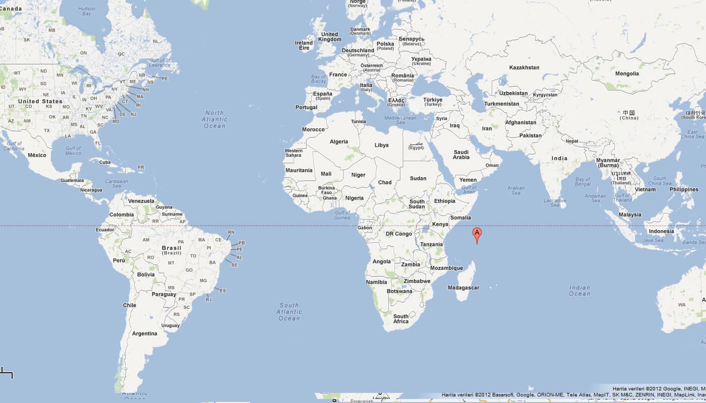 Indian Ocean Seychelles Map