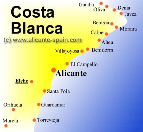 Карта испании город торревьеха недвижимость