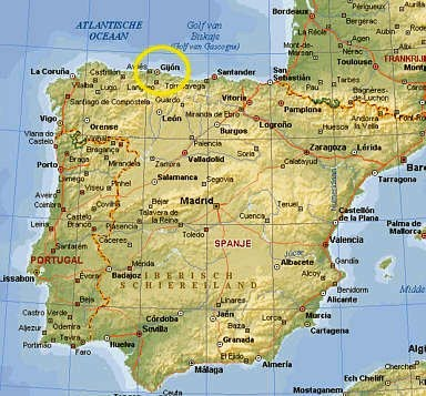 ... spain Gijon map ...