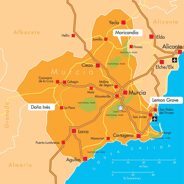 Map Of Spain Near Murcia.Murcia Map