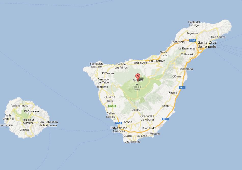 Tenerife Map Spain