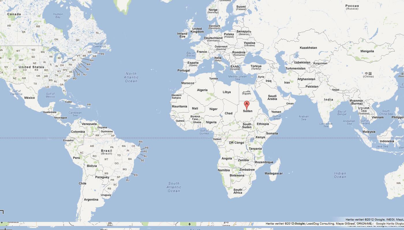Sudan Map - Map of sudan