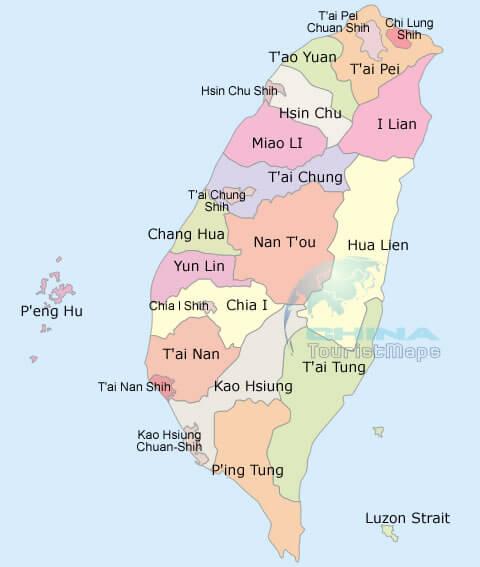 Taiwan map taiwandistrictsmapg gumiabroncs Choice Image