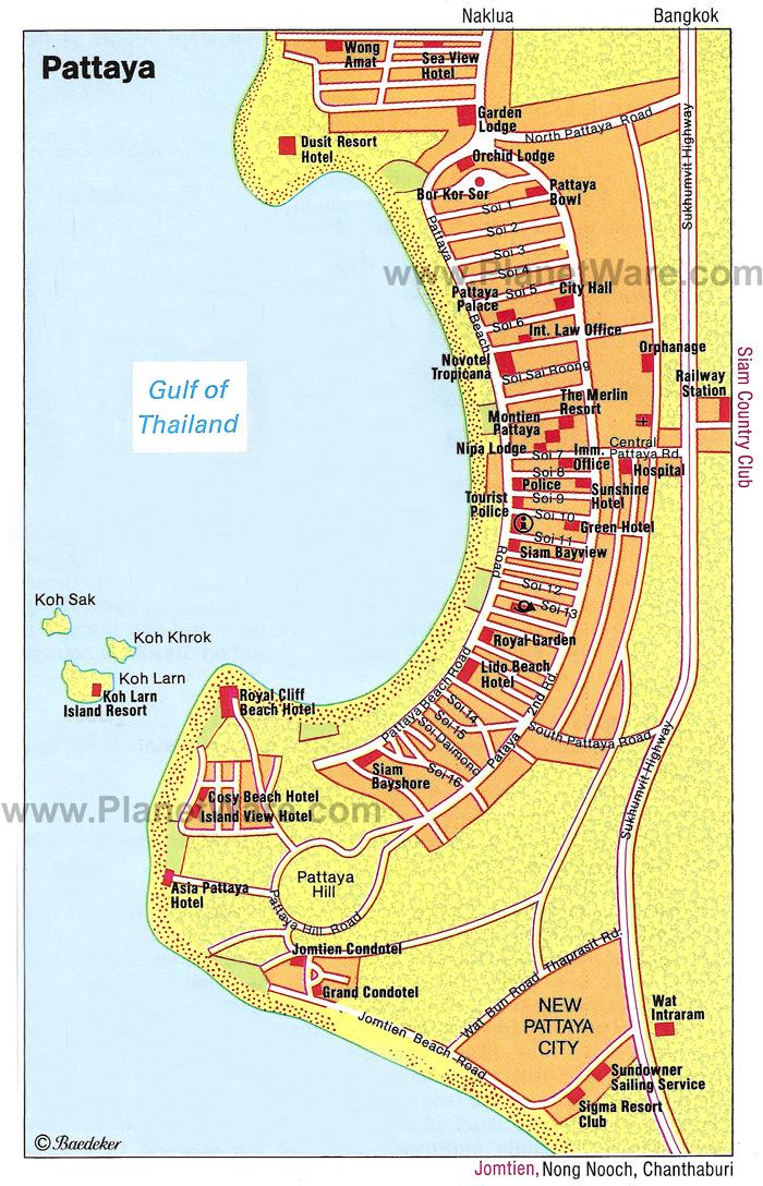 Chon Buri Map