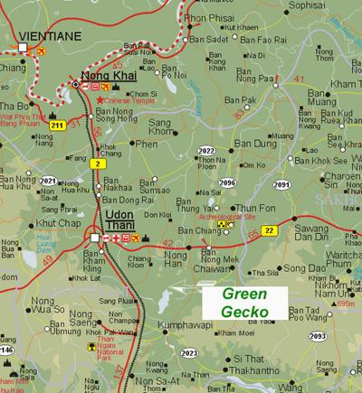 Udon Thani Map