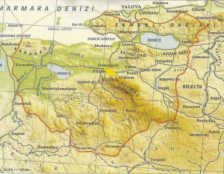 Bursa Map