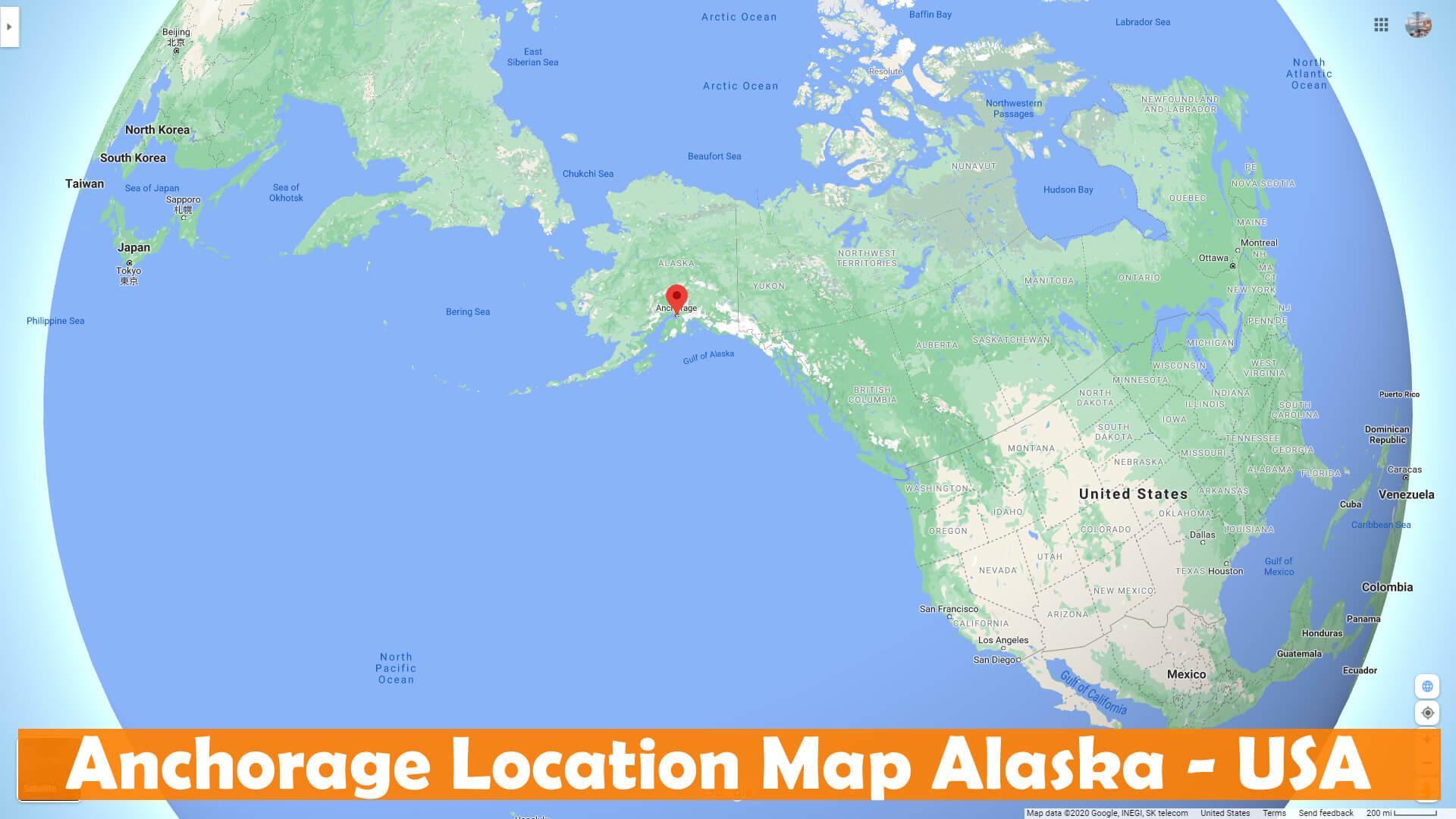 Anchorage Alaska Map