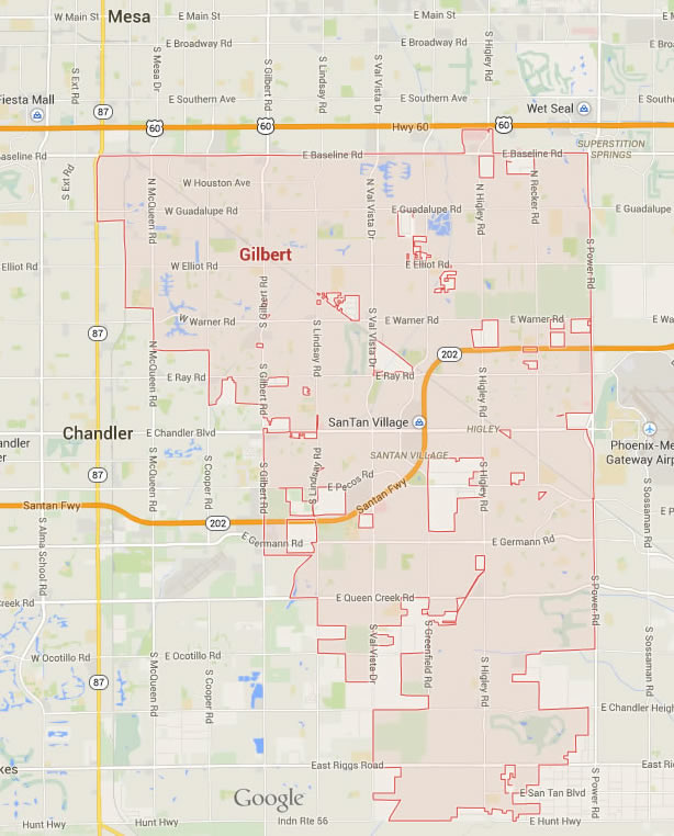 Map Of Arizona Gilbert.Gilbert Arizona Map
