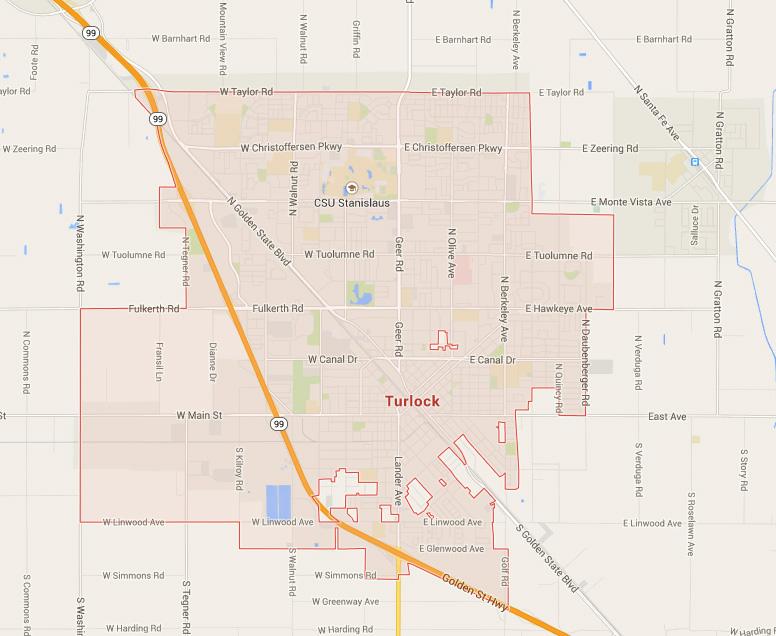 Turlock California Map