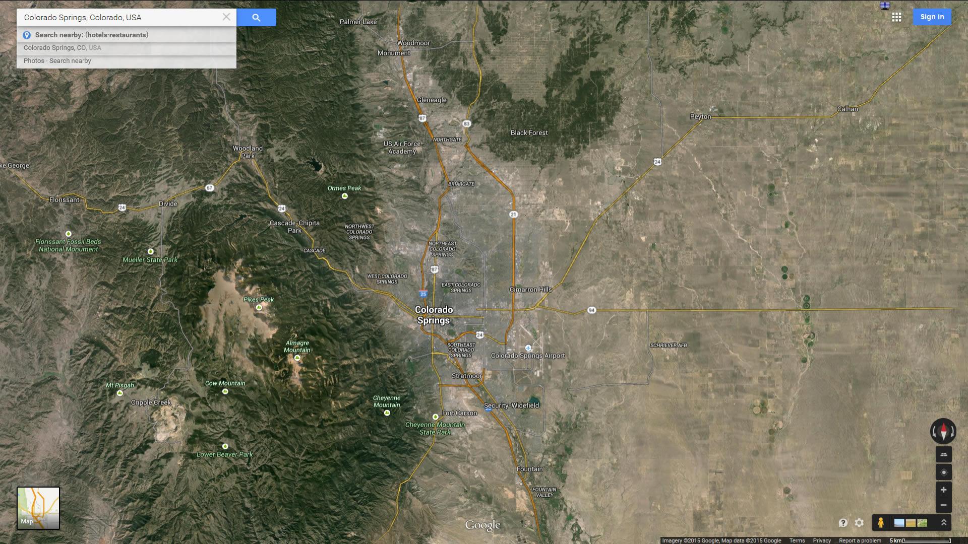 Colorado Springs, Colorado Map