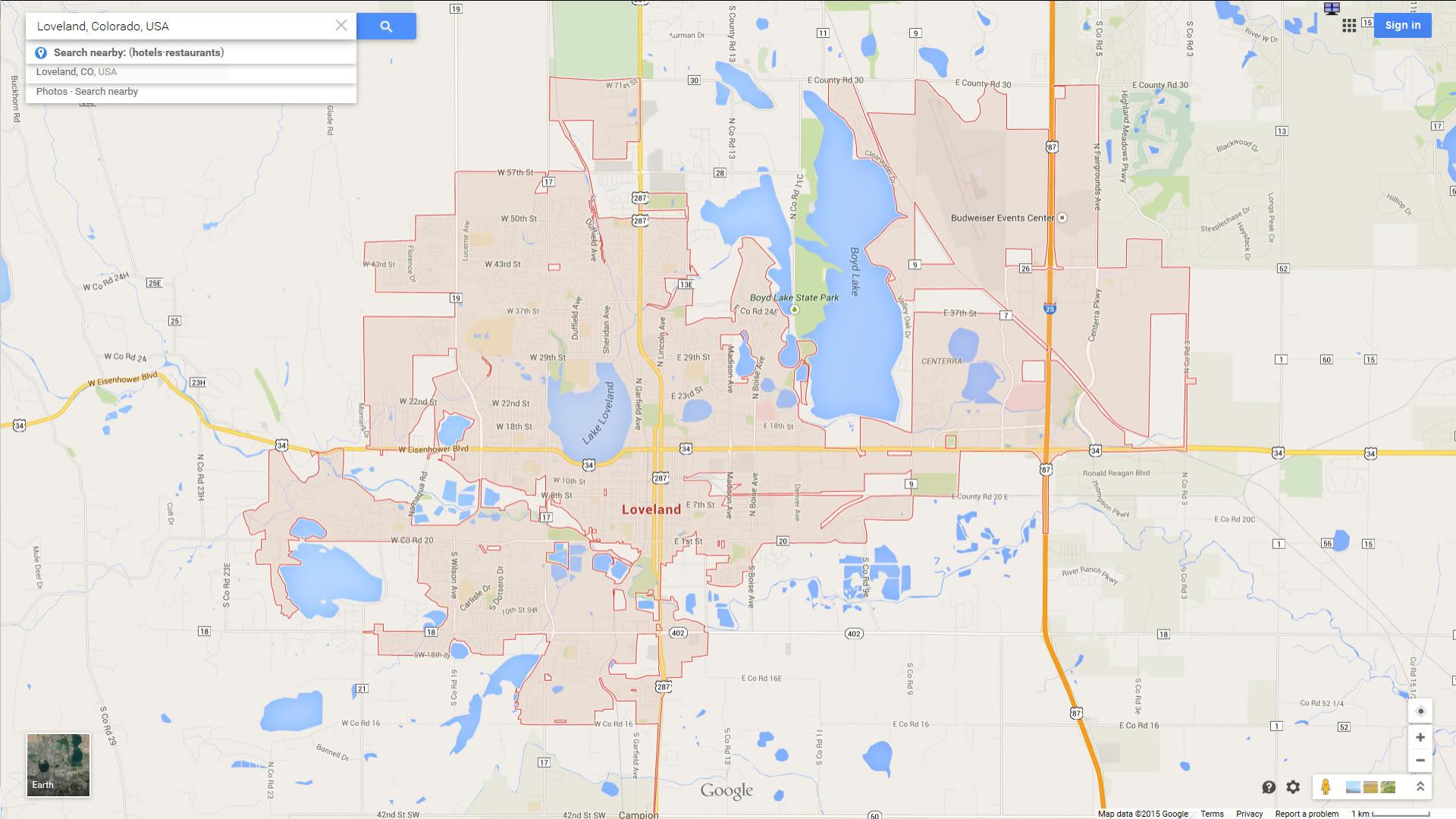 Loveland Colorado Map - Map of usa where is colorado