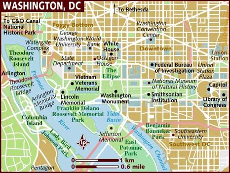 Washington DC, District of Columbia Map