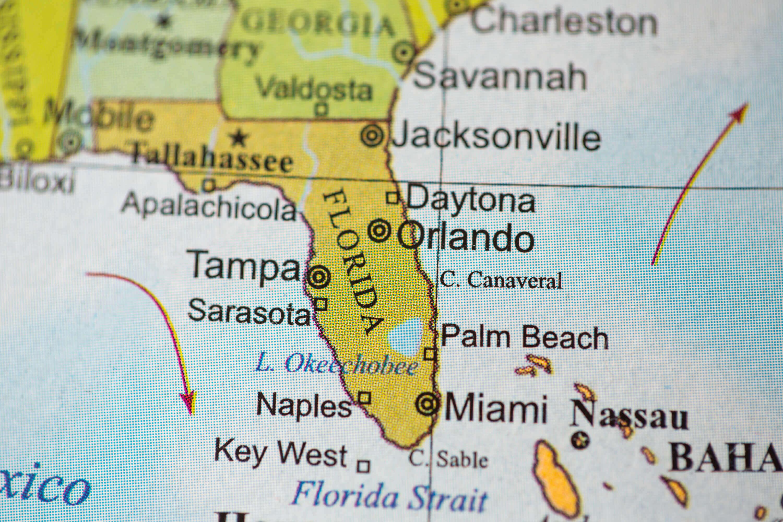 Florida Map on