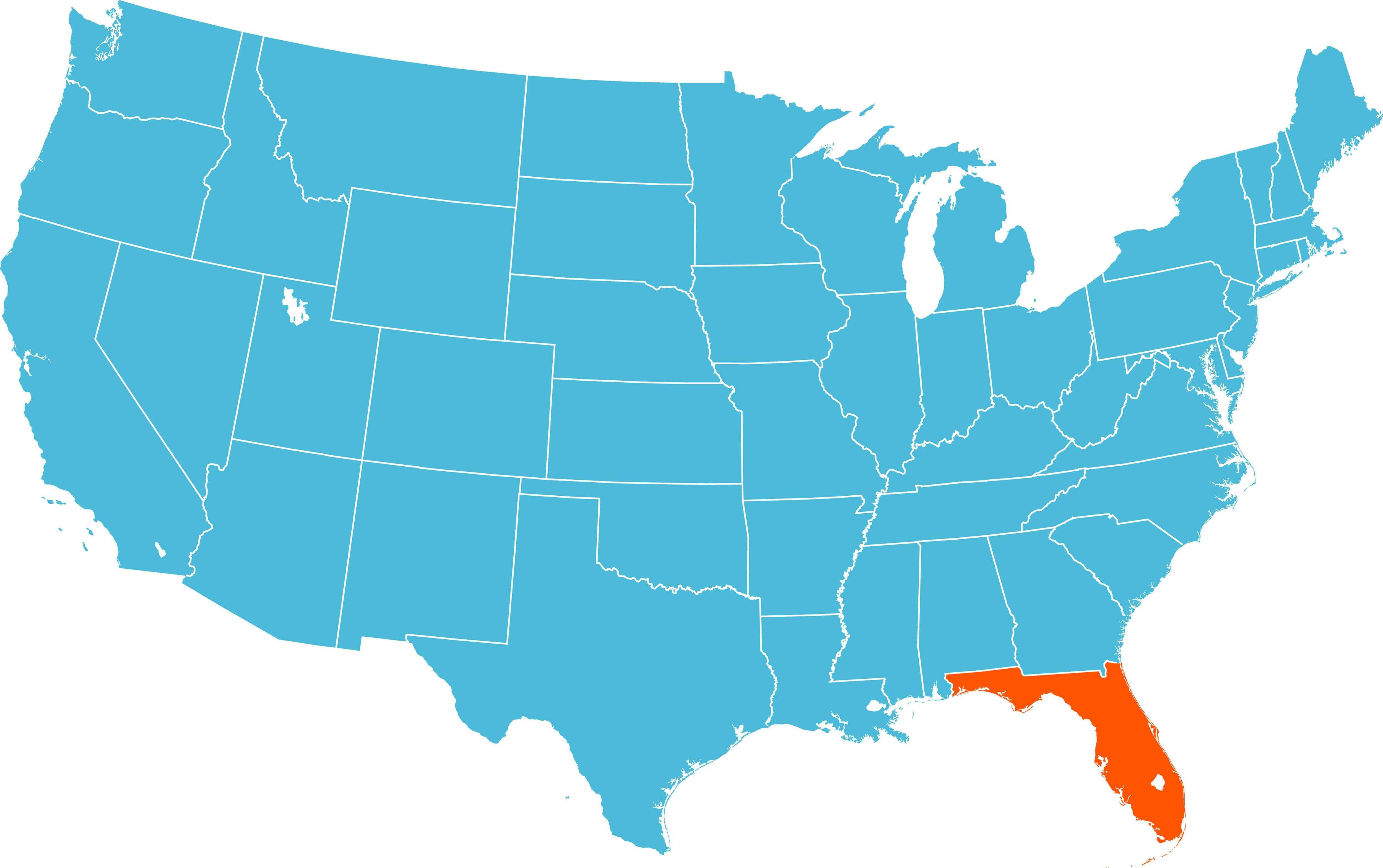 Map Of Florida - Florida usa map