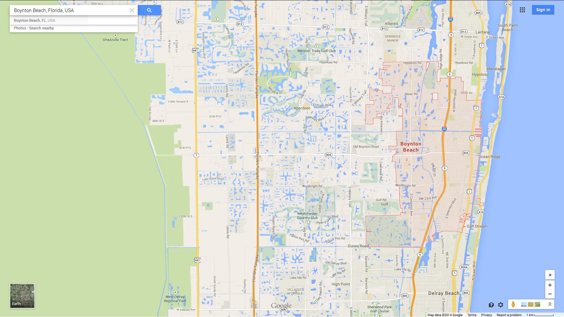 Boynton Beach Florida Map.Boynton Beach Florida Map