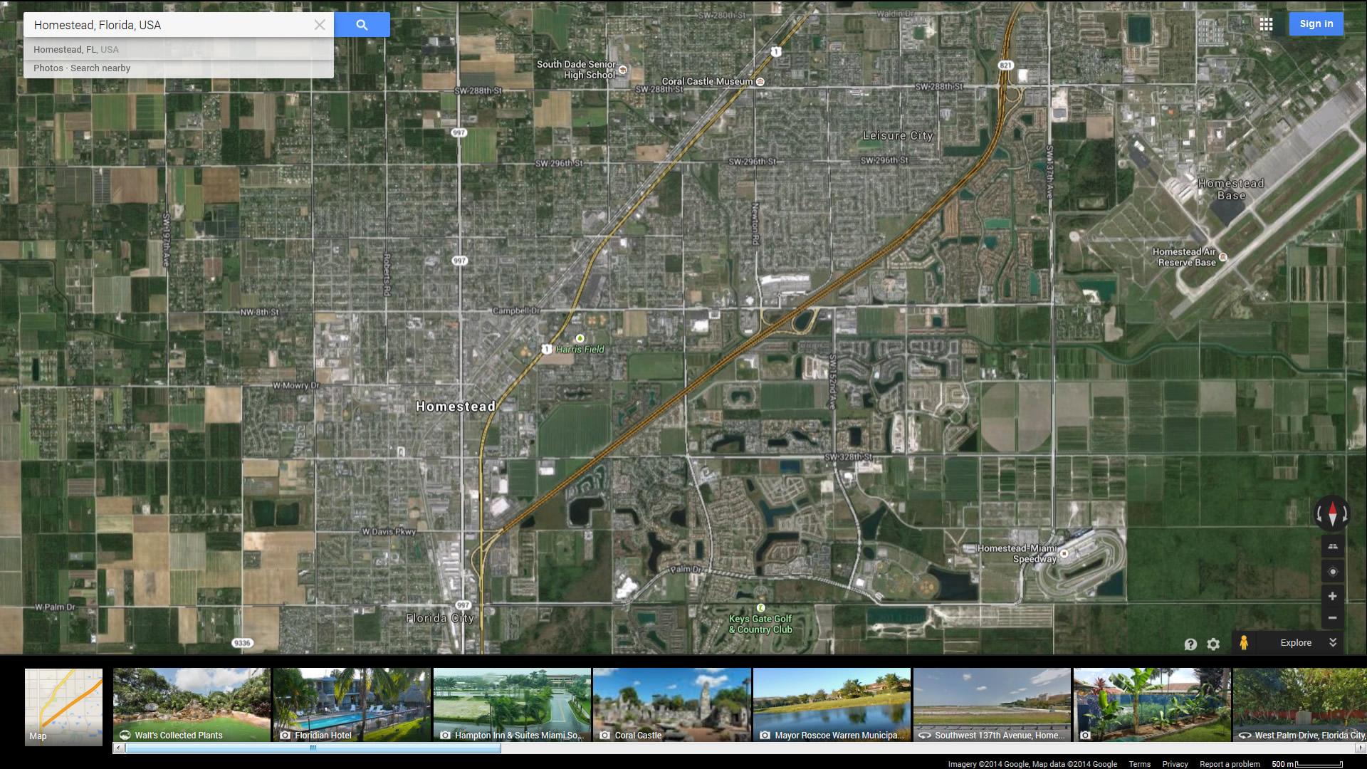 Map Homestead Florida.Homestead Florida Map