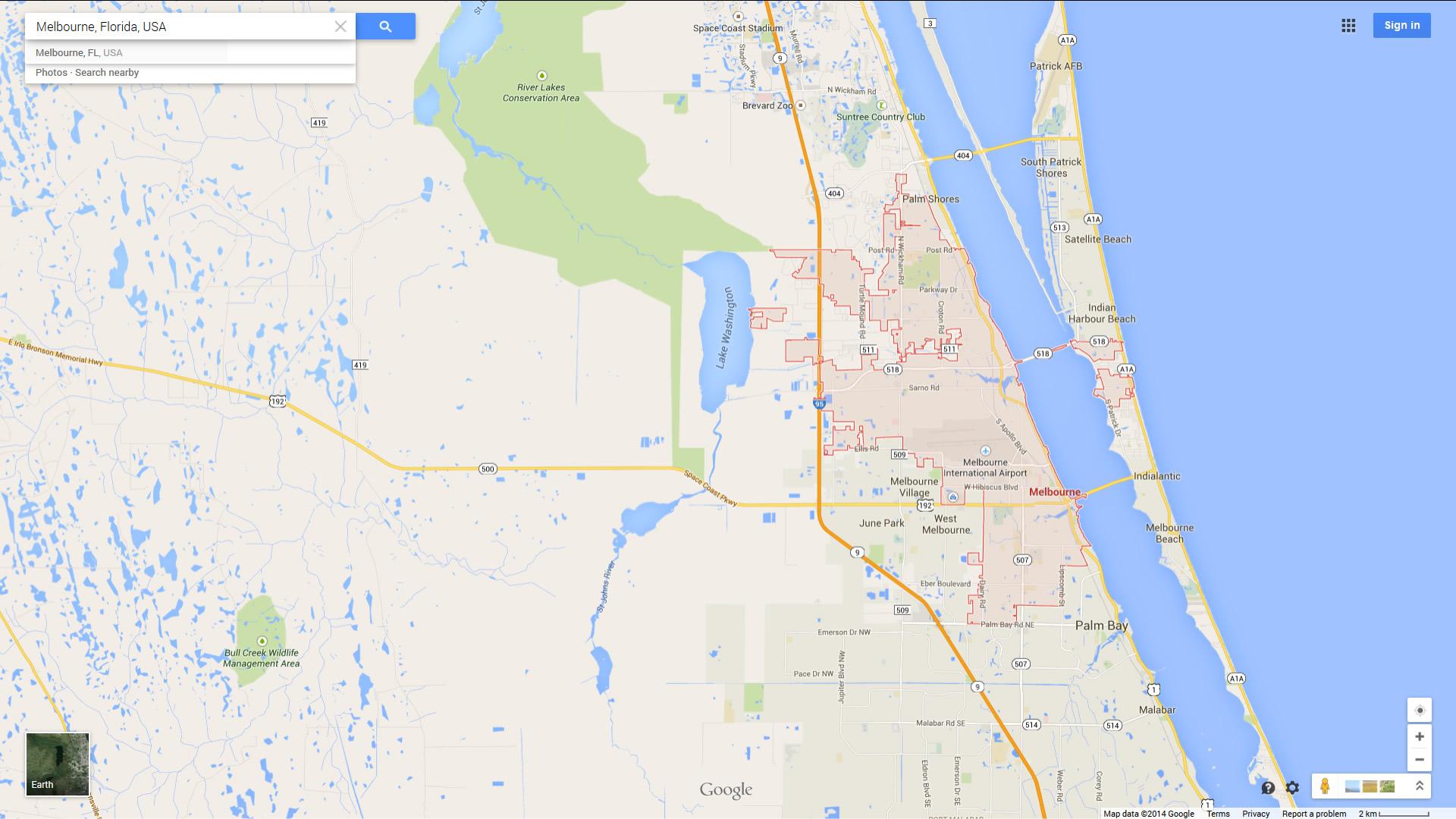 Melbourne Florida Map