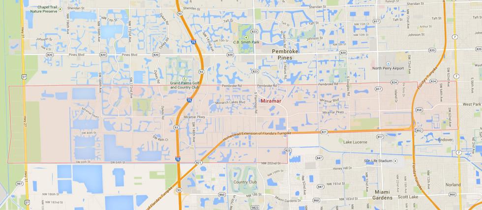 Miramar Florida Map
