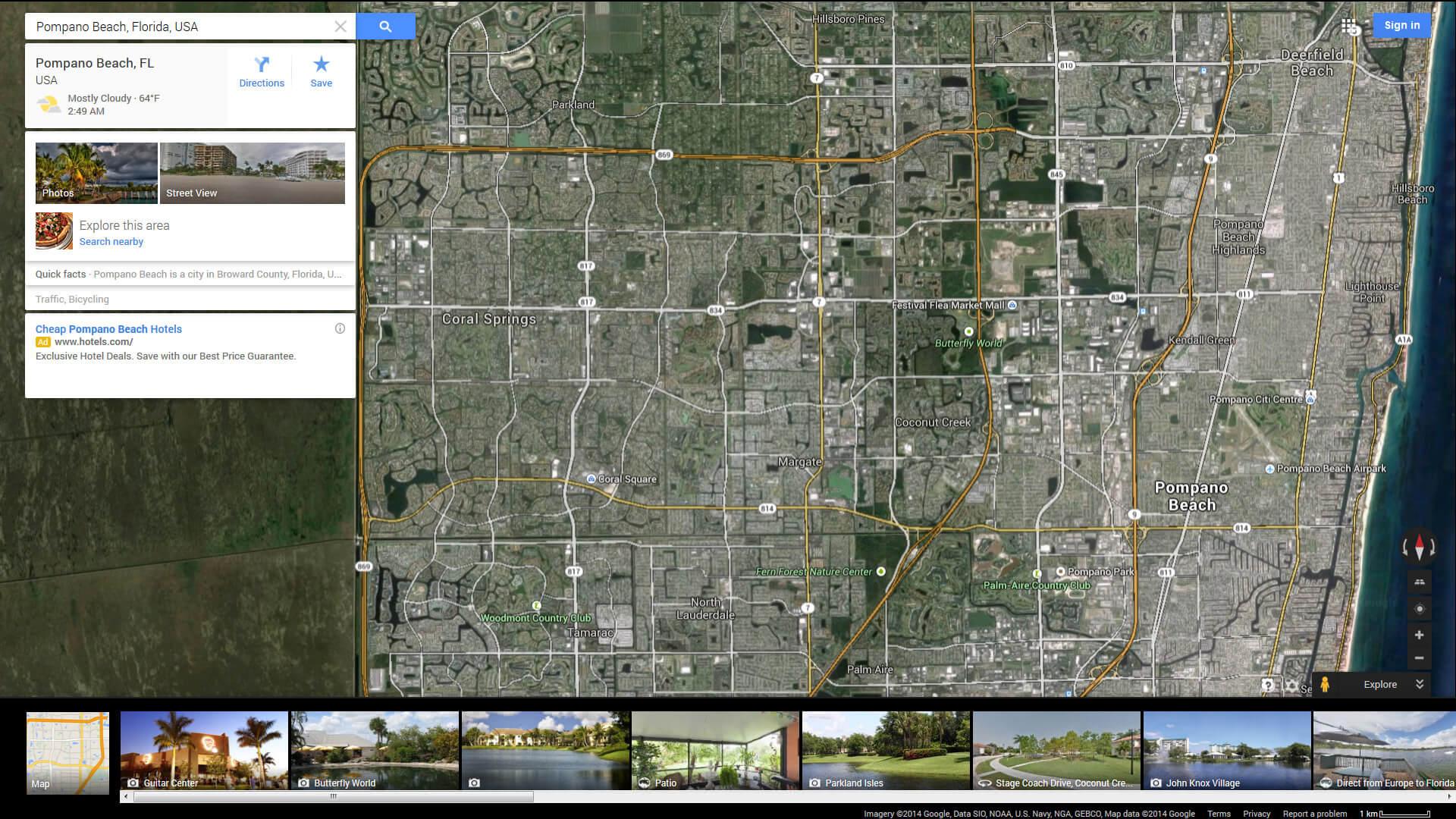 Pompano Beach Florida Map - Florida map daytona area