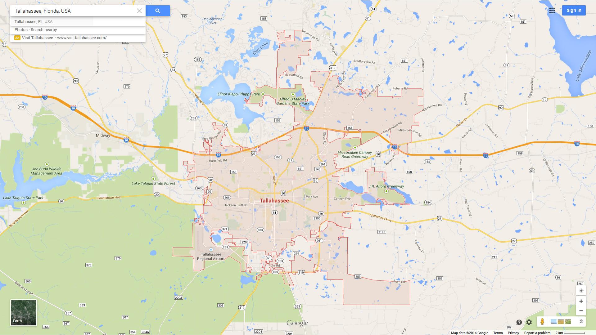 Tallahassee Florida Map.Tallahassee Florida Map
