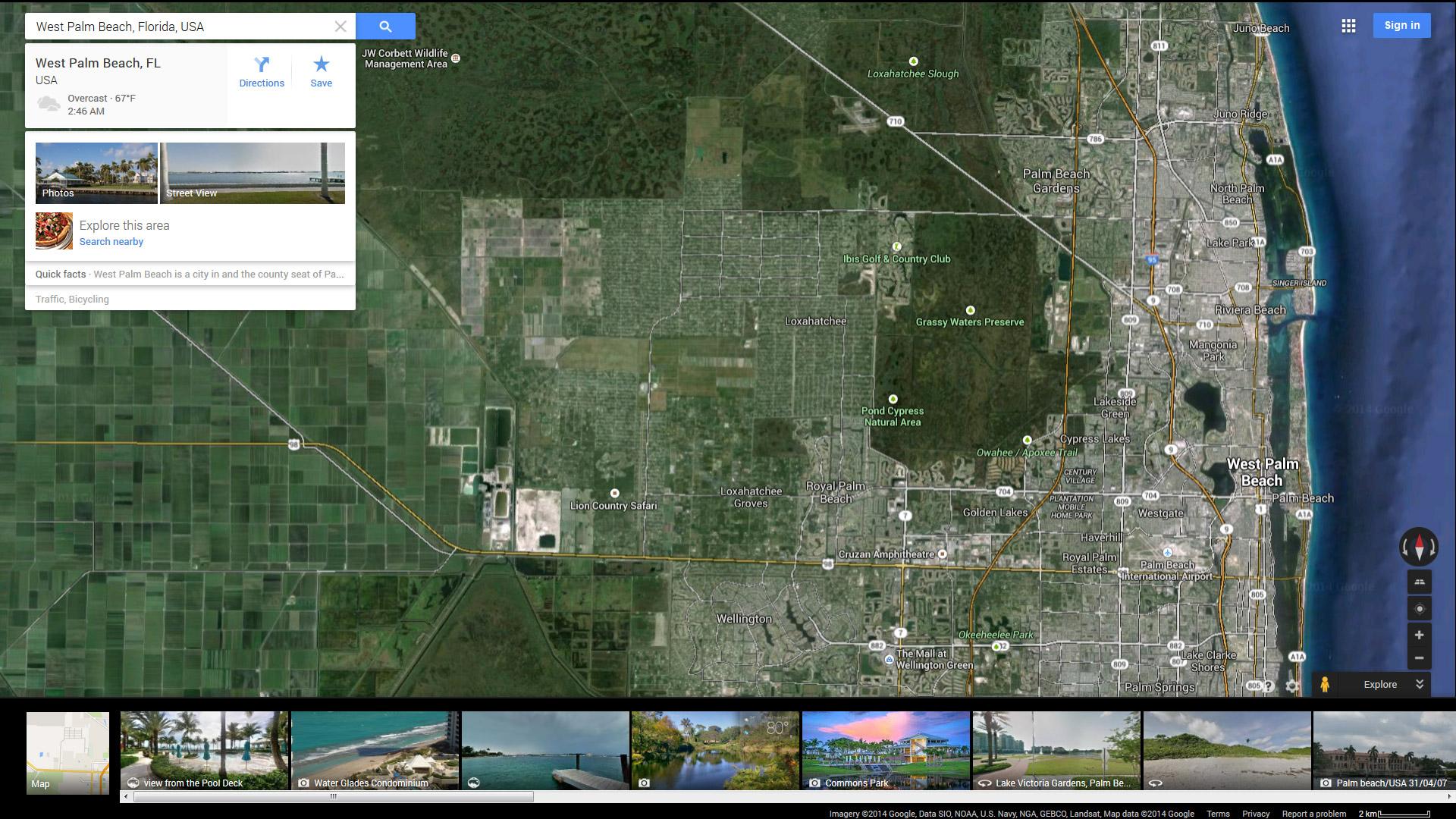 West Palm Beach Florida Map - Florida map daytona area