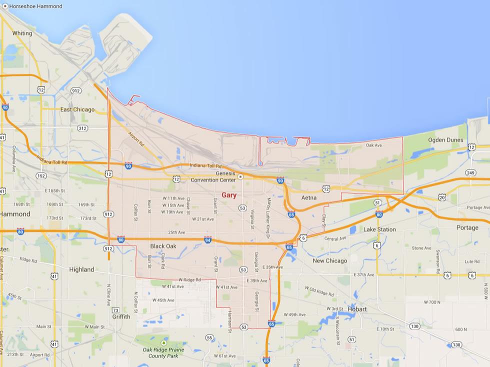 Gary Indiana Map