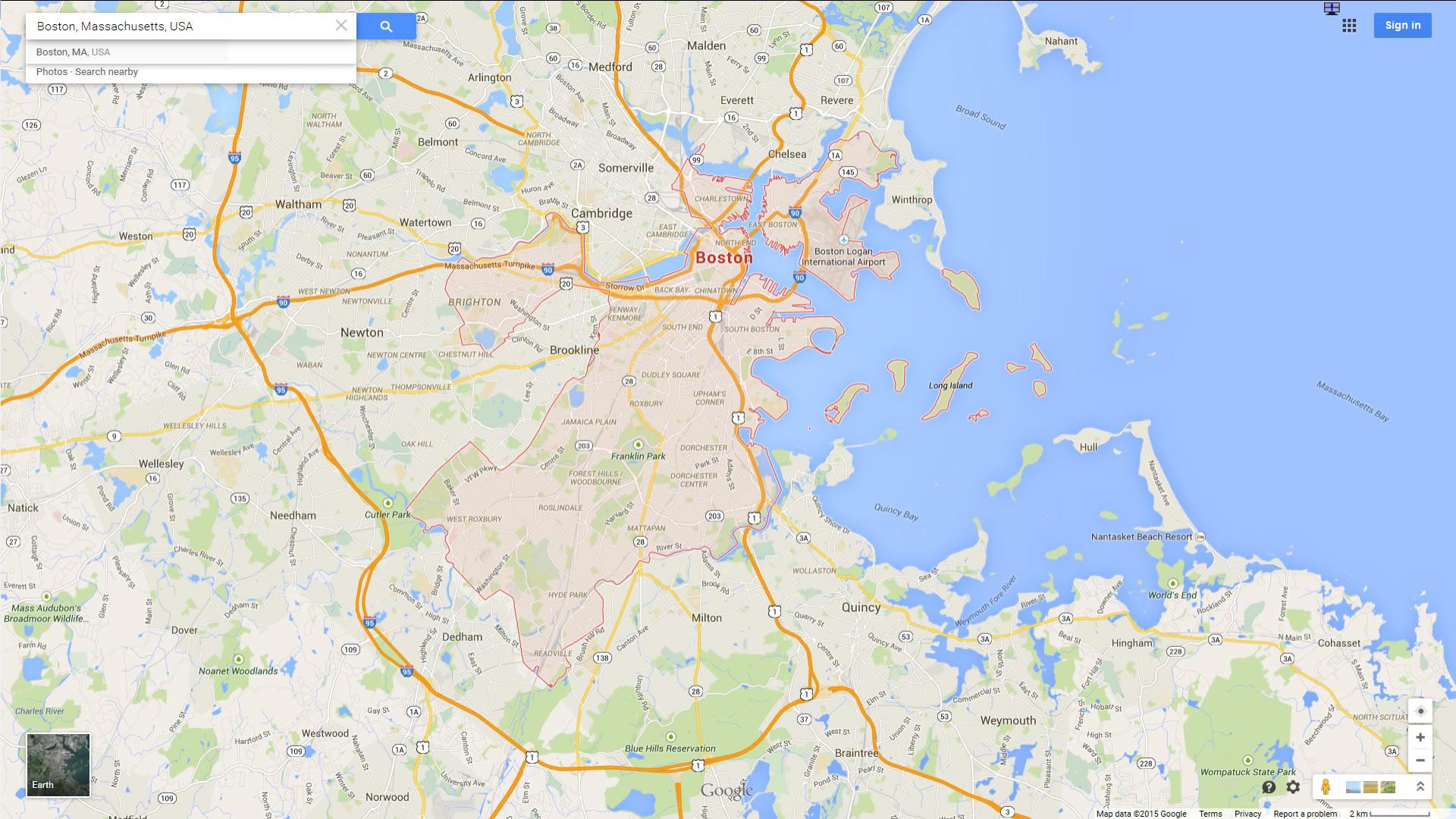 Boston Massachusetts Map - Boston on us map