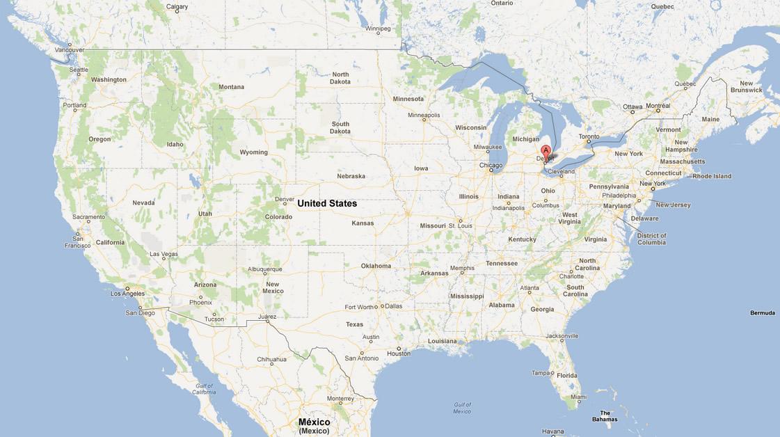 Detroit Michigan Map - Michigan map of usa