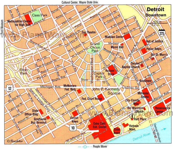 Detroit Michigan Map