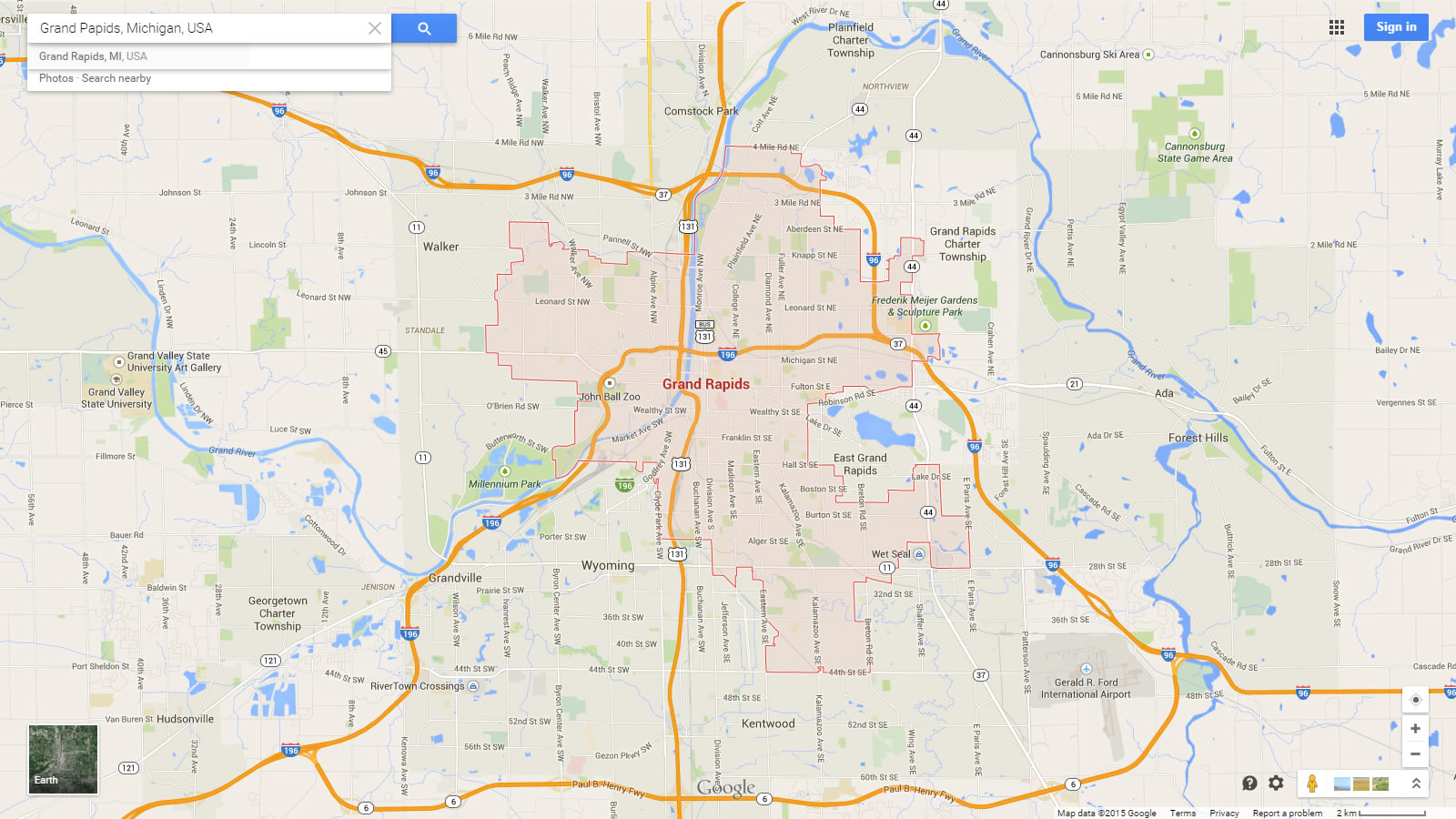 Grand Rapids Michigan Map