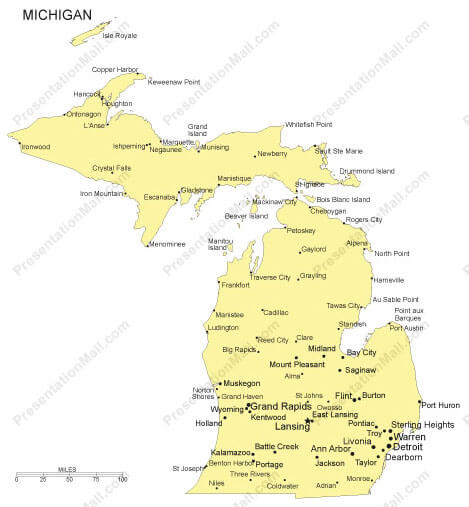 michigan cities map
