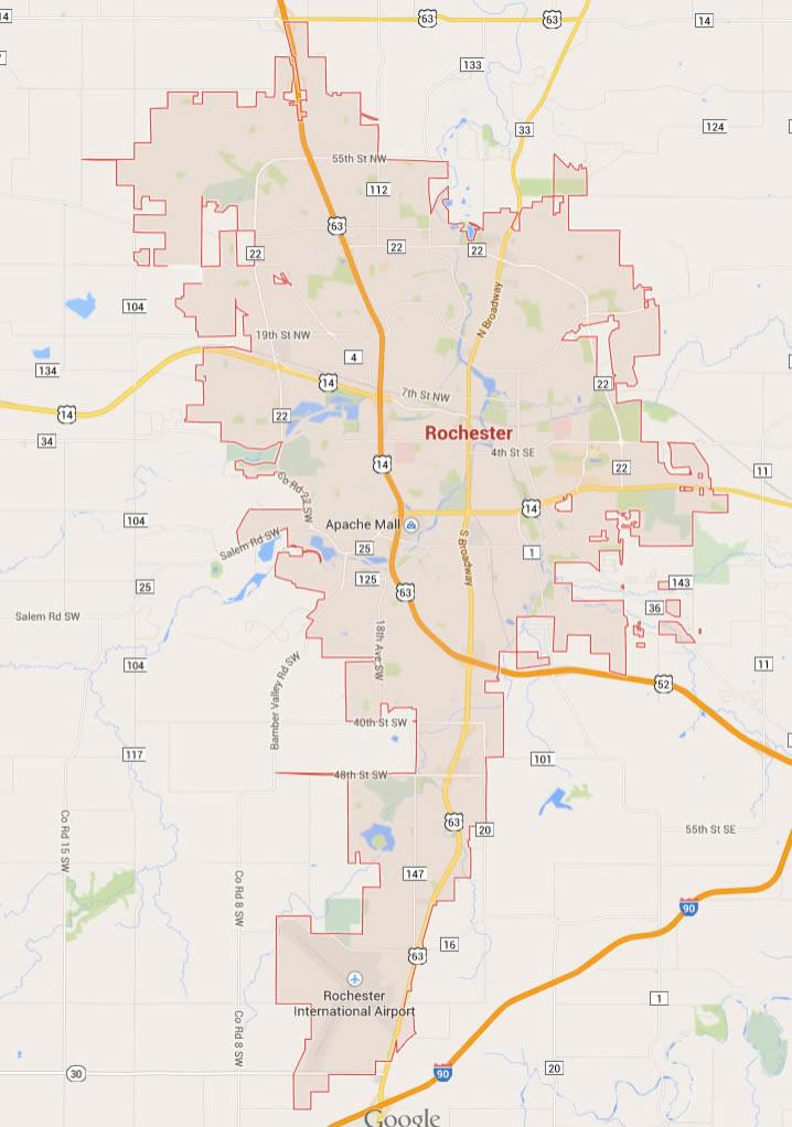 Rochester, Minnesota Map