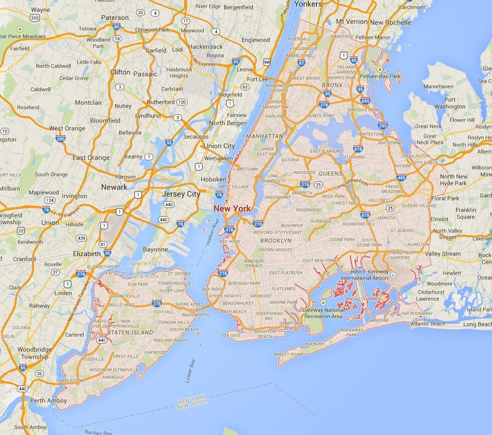 New York City New York Map