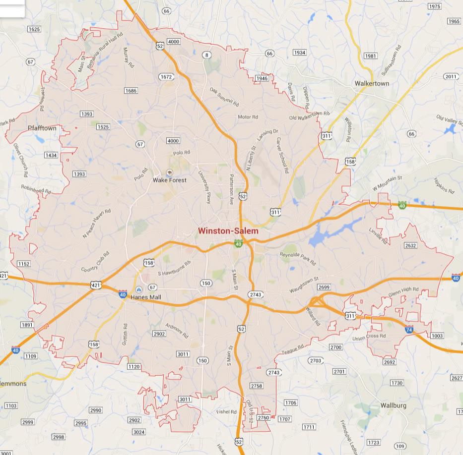 Winston Salem, North Carolina Map on west oregon map, salem witch trials map, salem new york, salem illinois, salem oregon, salem state map,