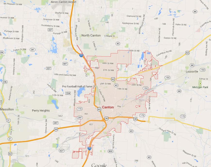 Canton Ohio Map