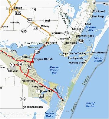 Corpus Christi Texas Map