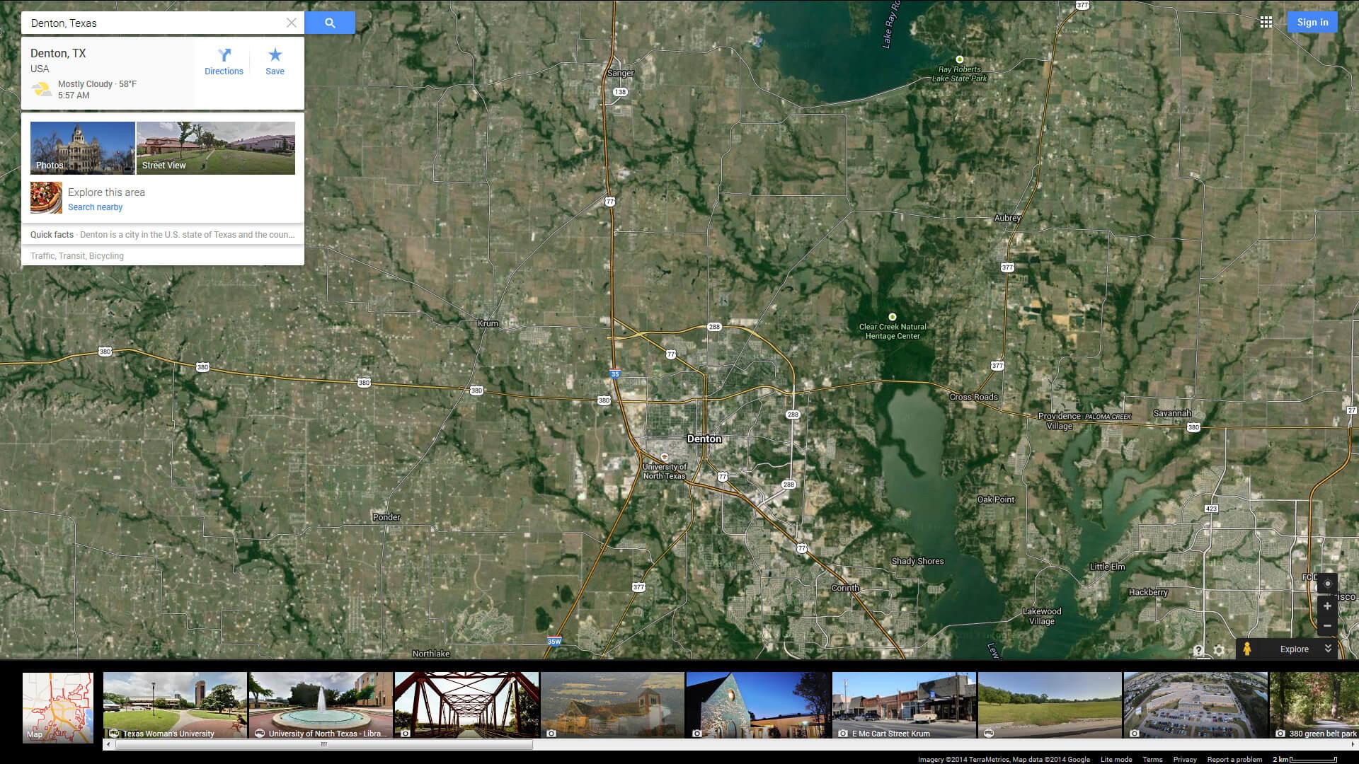 Denton Texas Map