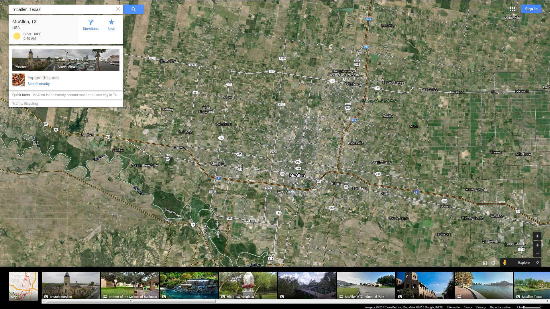 Mcallen Texas Map