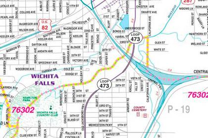 Wichita Falls Texas Map