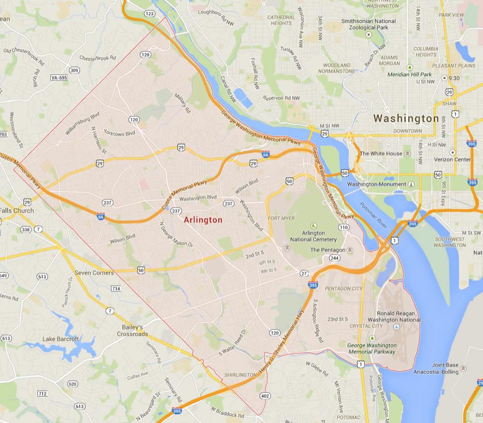 Arlington Virginia Map