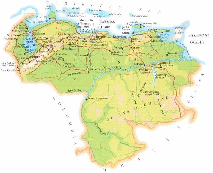 Caracas map caracas map venezuela gumiabroncs Gallery