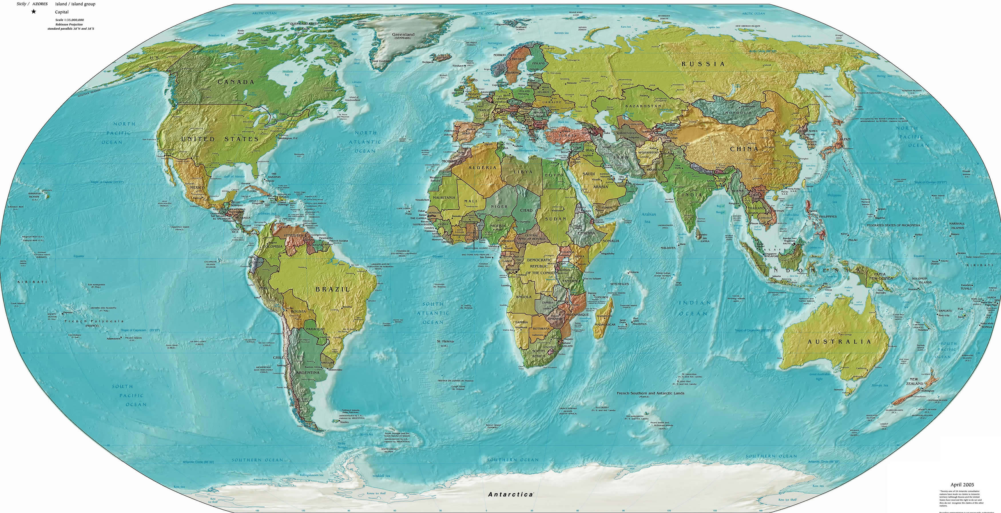 World Political Map World Political Map With